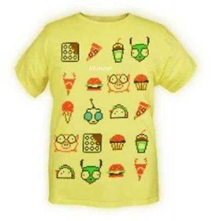 Invader Zim Gir Computer Bites Taco Cupcake Pig T Shirt