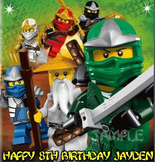 NINJAGO NINJAS #4 FROSTING SHEET EDIBLE CAKE TOPPER IMAGE DECORATIONS