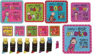 Birthday Christmas Gift Coaster socks 18th 21st 30th 40th 50th 60th