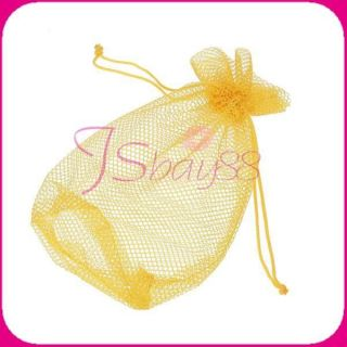 Net Storage Golf Table Tennis Ball Bag Pouch w Drawing String Closure