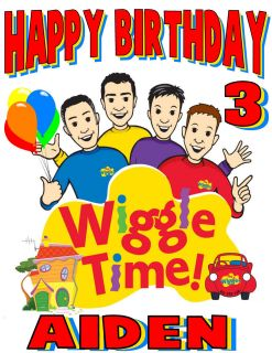 The Wiggles Custom Personalized Birthday Shirt party favor present