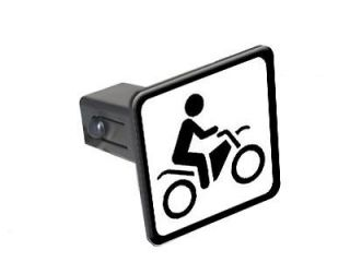 Dirt Pit Bike Off Road Sign   1.25 Tow Trailer Hitch Cover Insert