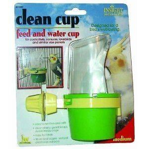 Pet Clean Cup Feeder Water Bird Water Accessory Medium Parrot Bird Bar