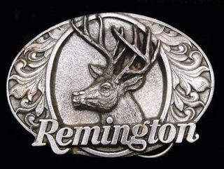 GREAT VINTAGE 1994 ***REMINGTON FIREARMS*** BIG BUCK DEER GUN BUCKLE