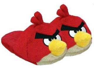 Collections Angry Birds Valentine Plush Red Bird Slippers Medium 9 11