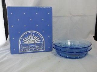 Avon American Blue Classics Glass Soup Bowls