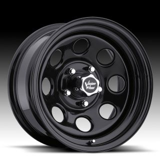 15x7  6 Vision Soft 8 Black Steel Wheels Rims 5x4.5 Jeep Wrangler TJ