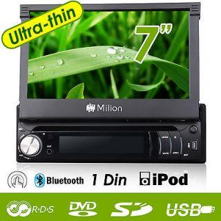 LCD 1Din Car Radio Stereo FM iPod Bluetooth DVD Player iPhone