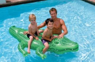 INFLATABLE POOL LAKE TUBE KIDS GATOR FLOAT TOY RAFT MAT