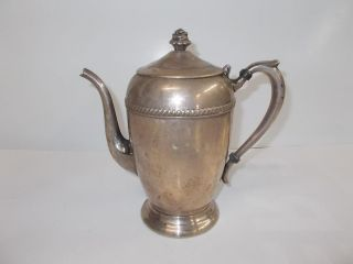 Antique F.B. Rogers 1883 Silverplate Tea/Coffee Pot Pitcher Jug 1200