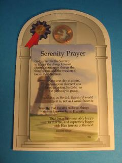 serenity prayer bookmark in Books