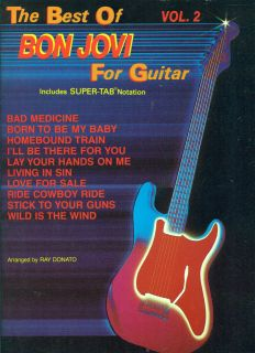 BON JOVI BEST OF FOR GUITAR VOL 2 SUPER TAB/VOCALS ON SALE