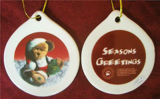 BOYDS BEARS COLLECTORS Ceramic CHRISTMAS ORNAMENTS