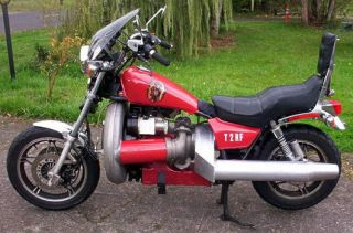 Jet Engine Motorcycle Gas Turbine Powered Honda Magna Rat Rod