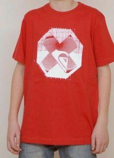 QUIKSILVER Quik Red Logo T Shirt Top Camiseta Tee RP£20