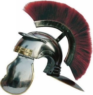 Roman Helmet Knights Gladiator Armor With Red Brush