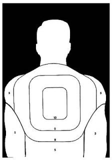 Police Pistol and Rifle BT 5 Human Silhouette Shooting Targets   19x25