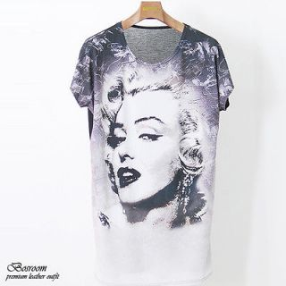 Unisex Womens Mens marilyn monroe printed graphic t shirt long top