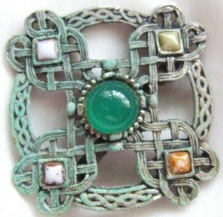 Celtic Knot Brooch Pin, Vintage Scottish Celtic Knot Brooch Pin