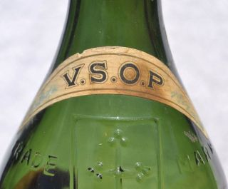 France Large Old Thick Green Glass COGNAC BRANDY Bottle CAMUS