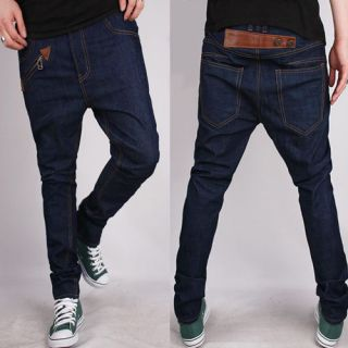 Free Ship New Mens slim harem pants Fashion denim skinny jeans ,28 34