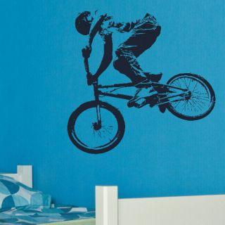 BMX PUSH BIKE pushbike boys bedroom Wall art Stickers kids childrens