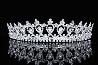 Bridal Pageant Rhinestones Crystal Wedding Crown Tiara 8496