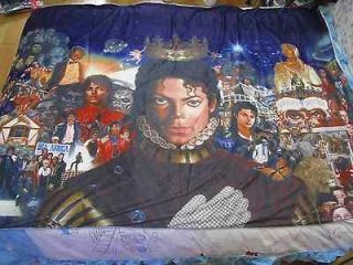 NEW michael jackson MJ Classic Breaking news Bed Sheet blanket 59.05in