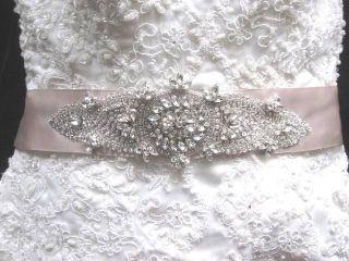 Wedding Bridal Dress Gown Crystal Sash Jeweled Belt