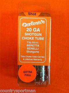 Carlsons 20 ga Extra Full Choke Tube: Beretta Benelli Shotgun 10617