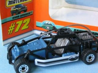 Matchbox Sand Speeder Dune Buggy with Black Body Boxed