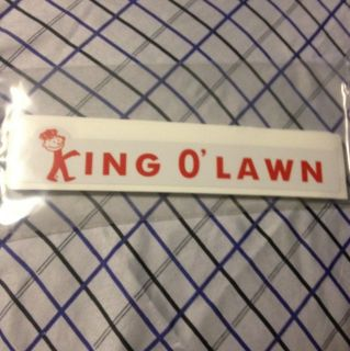 King OLawn Vintage Lawn Mower Decal For Reel Mowers