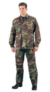 WOODLAND CAMOUFLAGE ARMY BDU MILITARY DURABLE PANTS