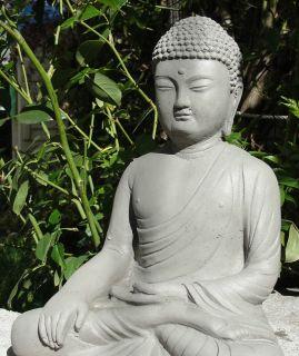 Stone DETAILED BUDDHA Meditating Gautama Garden Statue Outdoor Hotei