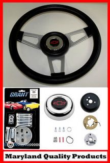 C10 C20 C30 Blazer Grant Black Steering Wheel Red/Black center 13 3/4