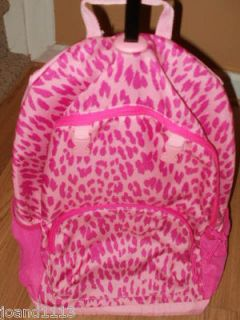 NWT GAP GIRLS LEOPARD PRINT ROLLER ROLLING BACKPACK SCHOOL BOOK BAG