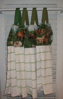 GOATS SHEEP LAMBS FARM HANGING KITCHEN TOWEL OVEN*FRIDGE*CABINET