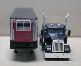 DCP RAT ROD KENWORTH W900 WITH CHROMED VINTAGE REFRIGERATED TRL. KW 1