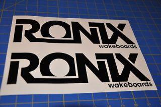 2011 RONIX BLACK LOGO STICKER You Get 2 WAKEBOARD DECAL