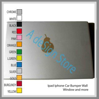 Decal vinyl car ipad laptop window wall bumper mac iphone pear iphone