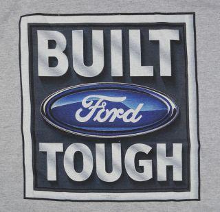 Ford Built Tough T Shirt Gray Car Auto BABA
