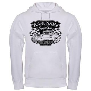 CUSTOM NAME SPEED SHOP SPEEDSHOP HOT ROD CAR RAT DRAG hoodie hoody