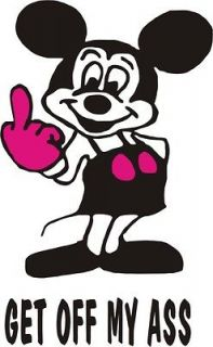 Newly listed Funny Bike / Car Sticker Minnie Mouse GET OFF MY ASS
