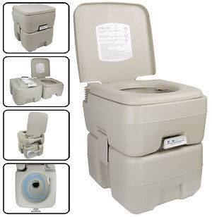 Camping 5 GAL Portable Camp Toilet Camping Flush Potty