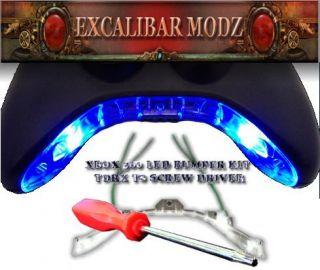 XBOX 360 CONTROLLER (BLUE) FLASHING LED BUMPER INSTALLATION KIT