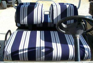 Golf Cart Seat & Back Covers CLUB CAR 1982 2000 SUNBRELLA   66 colors