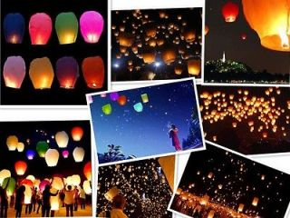 Colors Wishing Lanterns Chinese Paper Sky Candle Wedding Flying Lamp
