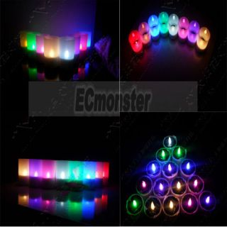 New Solar Energy Plastic LED Light Candle Lamp Nightlight 6 Color To