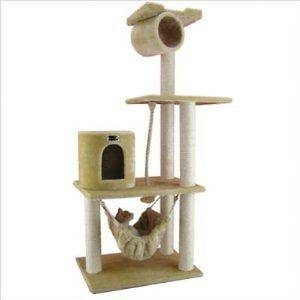 62 Cat Tree Condo Furniture Scratch Post Pet House B