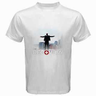 Eminem Recovery CD Music Tour 2012 White T Shirt Tee Size S,M,L,XL